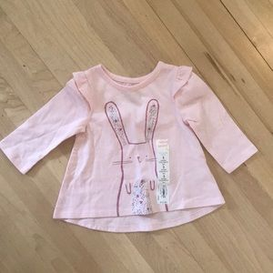 Pink bunny long sleeved t-shirt baby girl